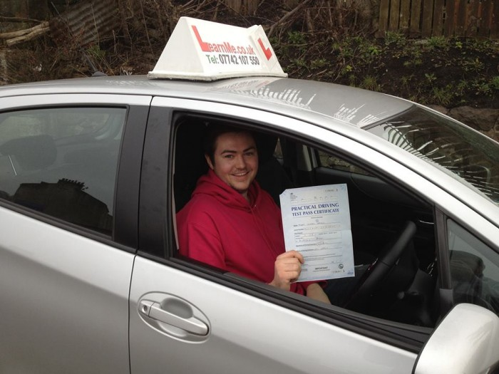 paisley driving school first time pass joe