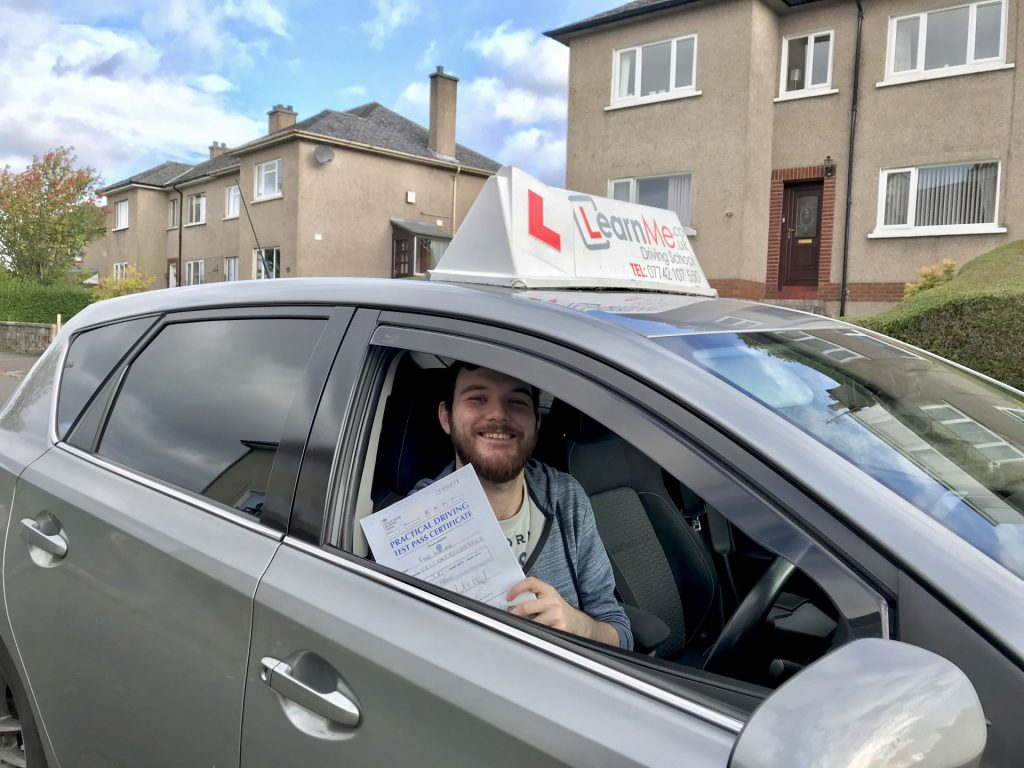 driving test pass for Ryan in Paisley, Renfrewshire